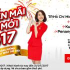 Khuyến mãi năm mới 2017 cùng hãng giá rẻ Air Asia