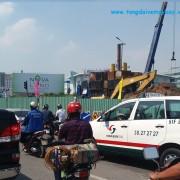 Giao thông vào Sân bay Tân Sơn Nhất khó khăn vì sửa đường