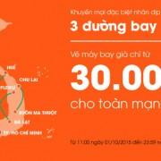 Jetstar khuyến mại toàn mạng giá 30.000đ