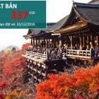 Vé khuyến mãi Cathay Pacific đi Nhật chỉ từ 337USD